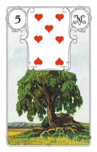 "Karte ""Baum"" im Lenormand"