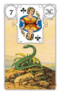 """Karte """"Schlange"""" im Lenormand"""