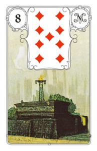 "Karte ""Sarg"" im Lenormand"