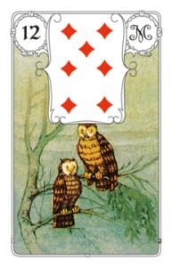 """Karte """"Eule/Vogel"""" im Lenormand"""