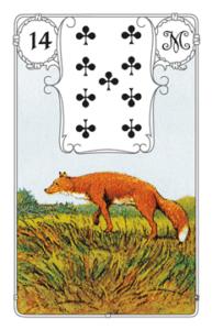 """Karte """"Fuchs"""" im Lenormand"""