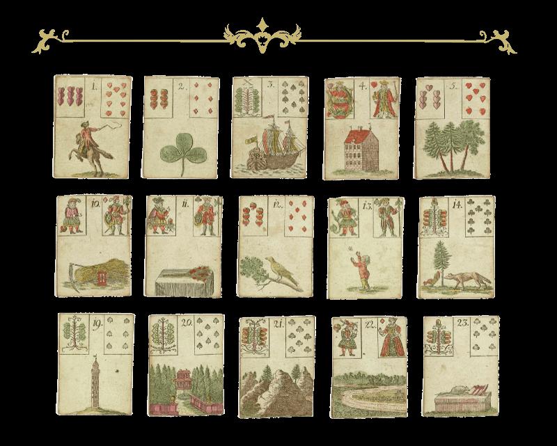 Lenormand Tafel der Liebe - 15 Karten