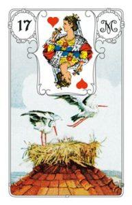 """Karte """"Storch"""" im Lenormand"""