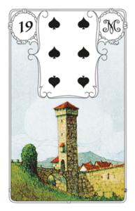 """Karte """"Turm"""" im Lenormand"""
