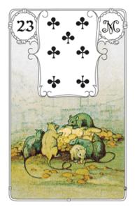 """Karte """"Mäuse"""" im Lenormand"""