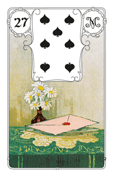 Karte Brief im Lenormand