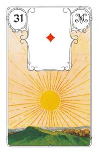 """Karte """"Sonne"""" im Lenormand"""