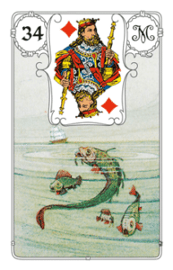"Karte ""Fische"" im Lenormand"