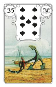 """Karte """"Anker"""" im Lenormand"""