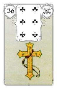 Lenormandkarte Kreuz - Bedeutung