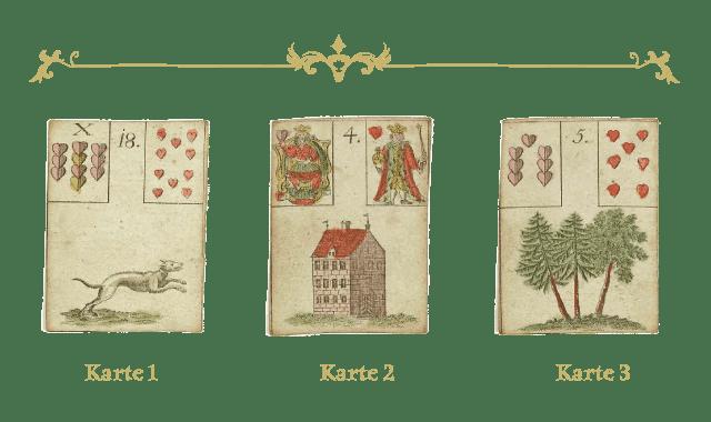 3er Legung - Hund, Haus, Baum