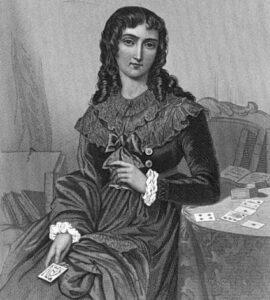 Madame Lenormand mit Karten